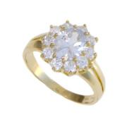 Zlatý luxusní prsten se zirkony 010.00338