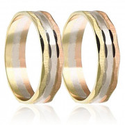 Snubní prsteny - kombinace zlata 04.B417