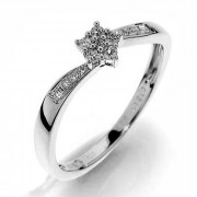 Prsten z bílého zlata s diamanty Gems elegant Dagmar 990.386-1218