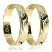 Snubní prsteny ze žlutého zlata 04.S30R