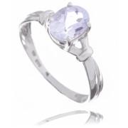 Zlatý prsten se světle modrým kamenem 080.00001
