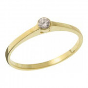 Zásnubní prsten ze žlutého zlata 05.B226874