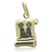 Zlatý přívěsek znamení Blíženci žluté zlato pergamen 000.00006