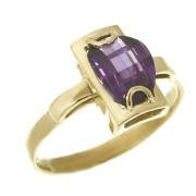 Zlatý prsten s ametystem 01.940.00001