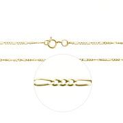 Zlatý řetízek figaro 3+1 000.00057