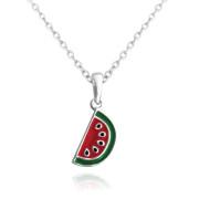 Stříbrný trendy náhrdelník meloun JMAS8011SN45
