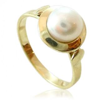 Zlatý prsten s perlou žluté zlato 740.00002