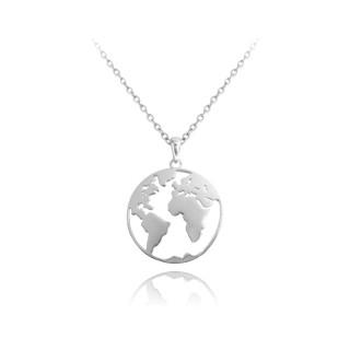 Stříbrný náhrdelník zeměkoule JMAN0061SN45
