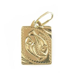 Zlatý přívěsek znamení Ryby destička malá 000.00124