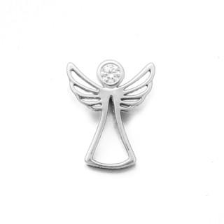 Stříbrný přívěsek anděl se zirkonem 010.00031