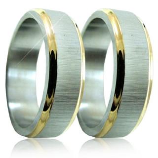 Ocelové snubní prsteny 04.5298