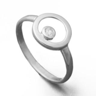 Stříbrný prsten se zirkonem 010.00350