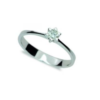 Zlatý zásnubní prsten se zirkonem 1953.11