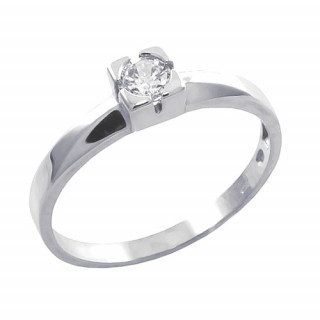 Zlatý prsten se zirkonem vsazeným do čtverce 010.00168