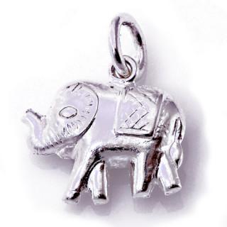 Stříbrný přívěsek slon s dekou 000.00109