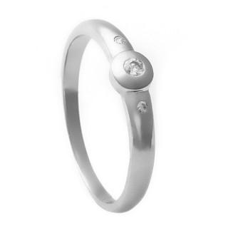 Zlatý zásnubní prsten se zirkony 224020206