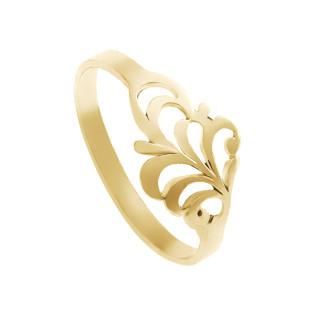 Zlatý prsten rostlinný motiv 000.00078