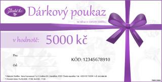 Dárkový poukaz v ceně 5000Kč DP005000