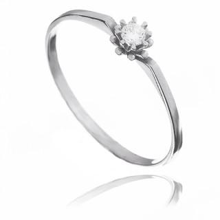 Zlatý zásnubní prsten se zirkonem 010.00032