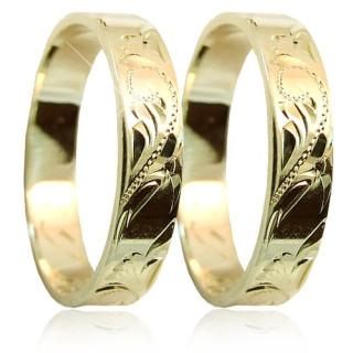 Snubní prsteny ze žlutého zlata 04.S35R