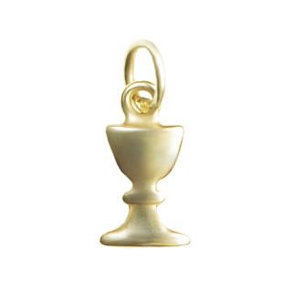Zlatý přívěsek kalich žluté zlato 13x8 000.00038