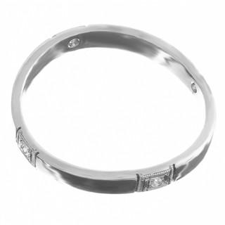 Prsten z bílého zlata se čtyřmi zirkony 010.00068