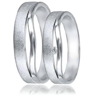 Snubní prsteny - bílé zlato 04.HU001