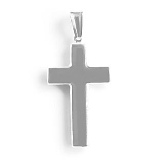Stříbrný přívěsek křížek hladký dutý 000.00020