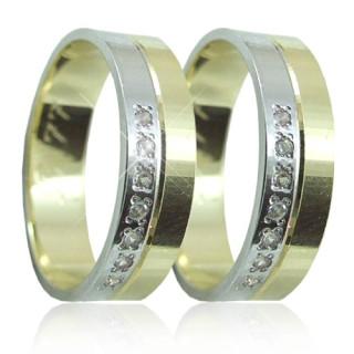 Snubní prstýnky v kombinaci zlata 04.B77