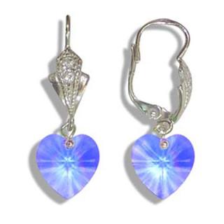 Stříbrné náušnice s krystaly Swarovski 10020029