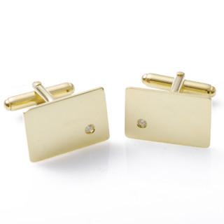 Manžetové knoflíčky ze žlutého zlata s diamanty Diamond