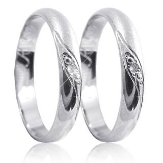 Snubní prsteny z bílého zlata 04.K59