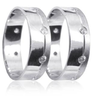 Stříbrné snubní prsteny K25