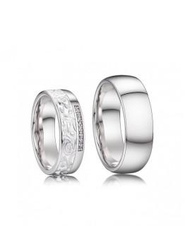 Stříbrné snubní prsteny Harry a Meghan 038