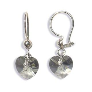 Stříbrné náušnice s krystaly Swarovski 10020003