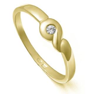 Zlatý zásnubní prsten se zirkonem ZZ10.226022068