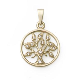 Přívěsek strom života žluté zlato  010.00030
