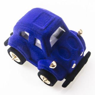 Sametová krabička modré auto 18705-43