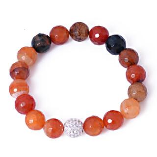 Náramek s oranžovými kameny 131.00002
