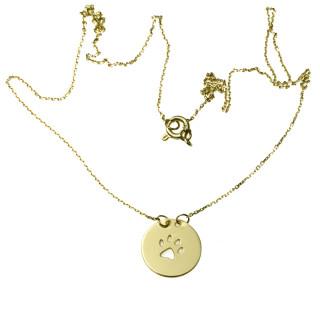 Zlatý náhrdelník s tlapkou 14.00003