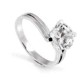 Zlatý zásnubní prsten zirkonem AT2264