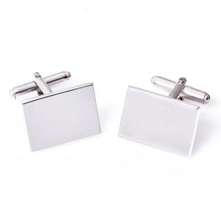 Manžetové knoflíčky obdelníky ze stříbra s gravírem Elegance ZZM1713.L20