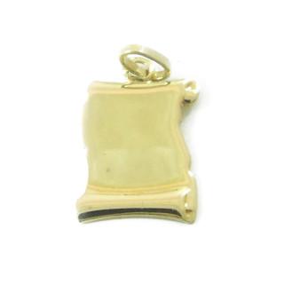 Zlatý přívěs pergamen 16x12 000.00018