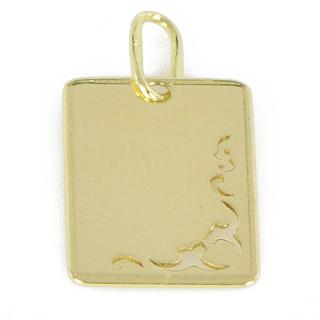 Zlatý přívěsek žluté zlato destička PA0029