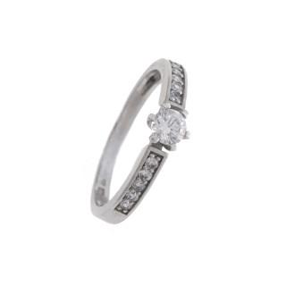 Zlatý prsten se zirkony 010.00203