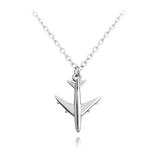 Stříbrný náhrdelník letadlo