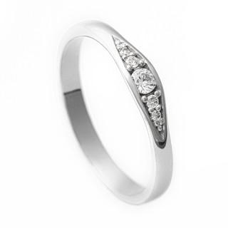 Zlatý zásnubní prsten se zirkony 226022135