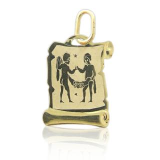 Zlatý přívěsek znamení Blíženci žluté zlato 000.00094