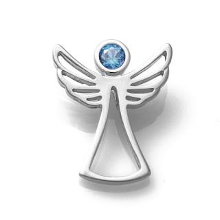Zlatý přívěsek anděl se světle modrým zirkonem 070.00001