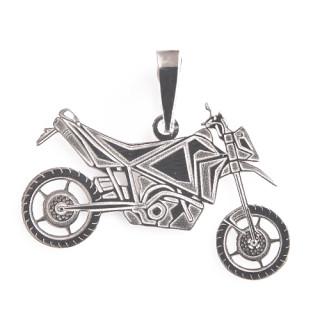 Zlatý přívěsek motorka cross 000.00005